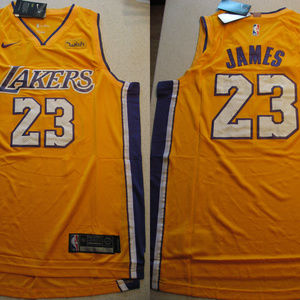 outlet store 2abe9 6968a New Lebron James Lakers Gold Swingman Wish Jersey NWT